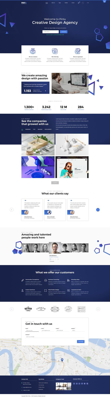 Pintu - Portfolio PSD template #gradient #marketing #milo • Download ➝ https://themeforest.net/item/pintu-portfolio-psd-template/21323462?ref=pxcr