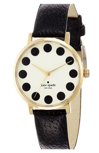 Cute kate spade new york 'metro' patterned dial watch