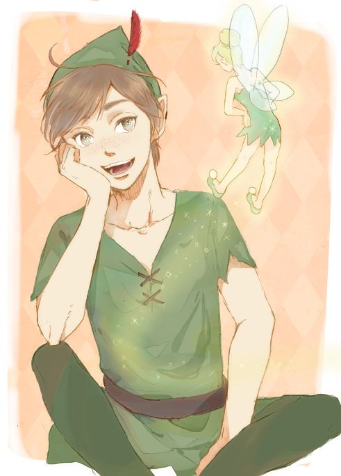 Peter Pan and Tinkerbell