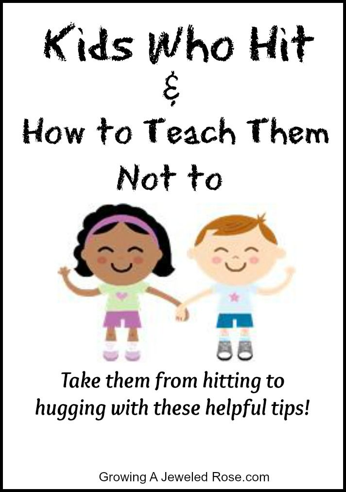 Tips For Kids That Hit. Has some really good ideas to show/ tell kids that it's not ok to hit.