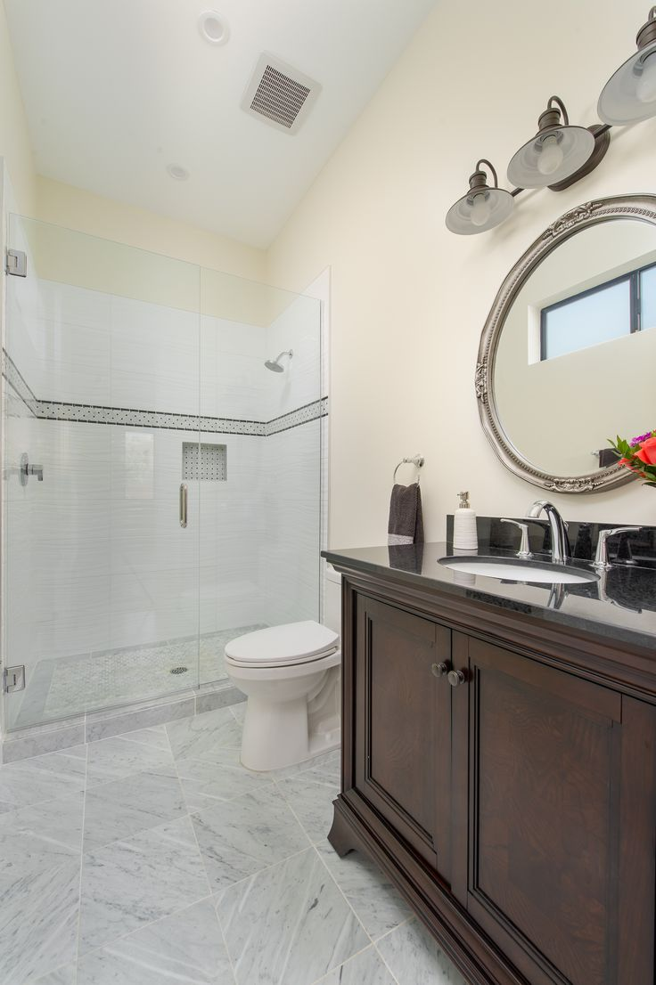 8 best arcadia smart bathrooms images on pinterest smart home arcadia smart homes model home chrome accents with chrome faucets italian porcelain tile chrome trim carrera floor tile and accented deco band dailygadgetfo Gallery