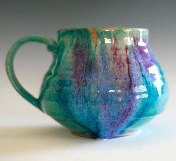 Extra Large Porcelain Coffee Mug, 24 oz, handmade ceramic cup