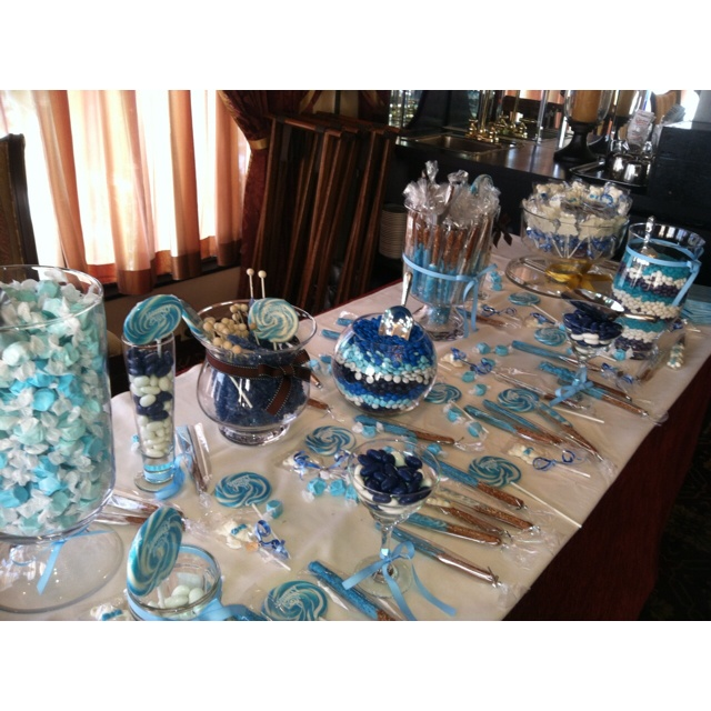 Blue candy bar for baby shower!