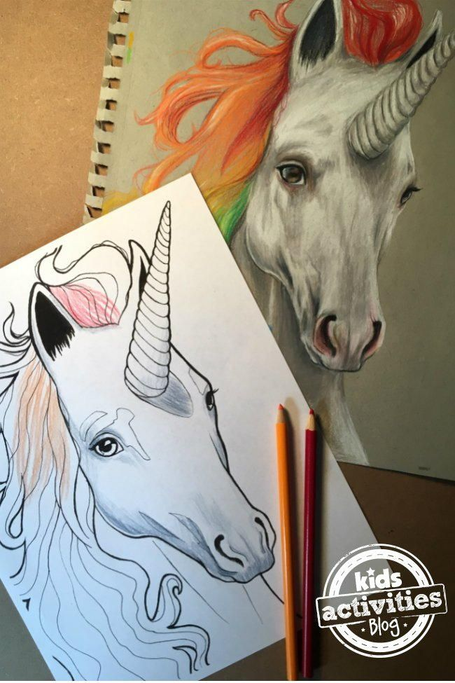 Unicorn Coloring Page Children PagesAdult Book