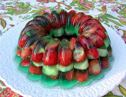 Gelatina de frutas encapsulada