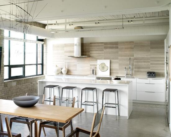 30 Amazing Design Ideas For A Kitchen Backsplash: Rough Limestone Backsplash Design, Pictures, Remodel