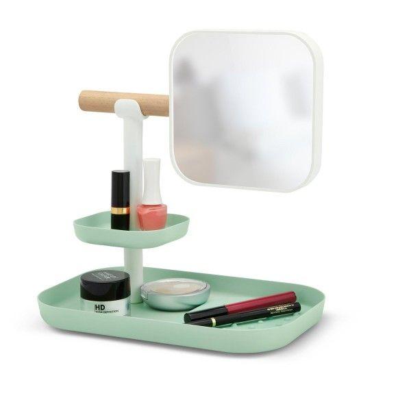 Miroir grossissant et plateau de rangement pour le maquillage de Umbra  http://www.homelisty.com/miroir-original/