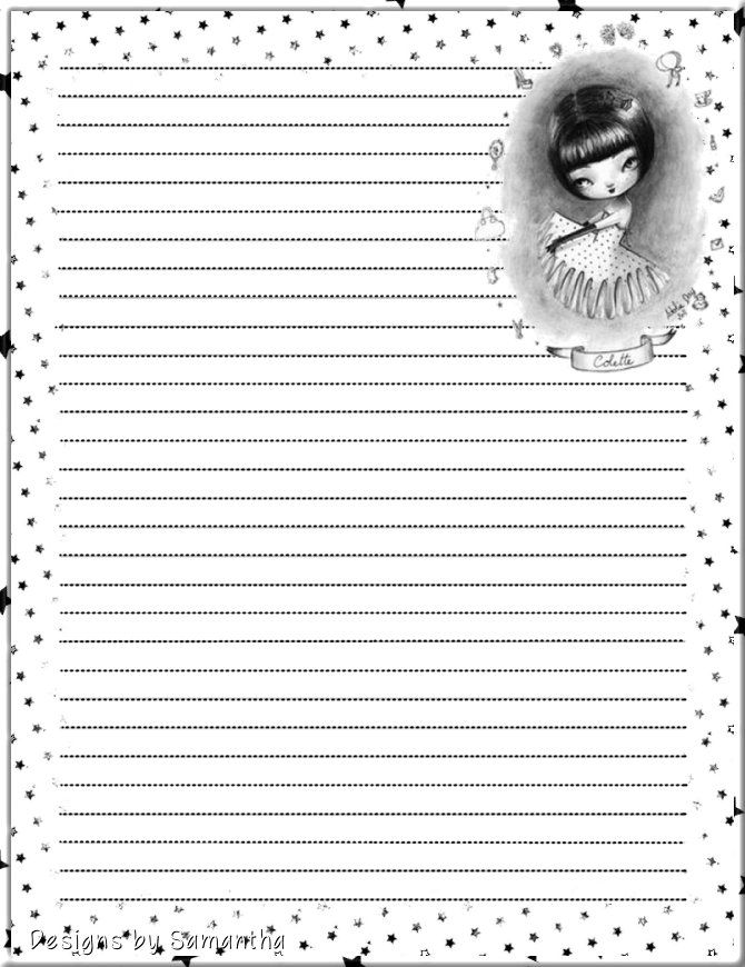 394 best Lined Stationary images on Pinterest Article writing - free handwriting paper template