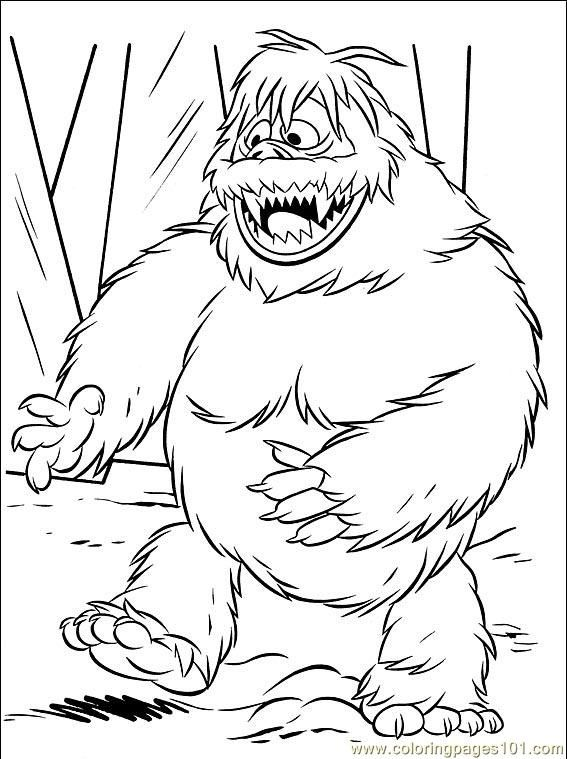abominable snowman bumbles coloring pages - photo#3