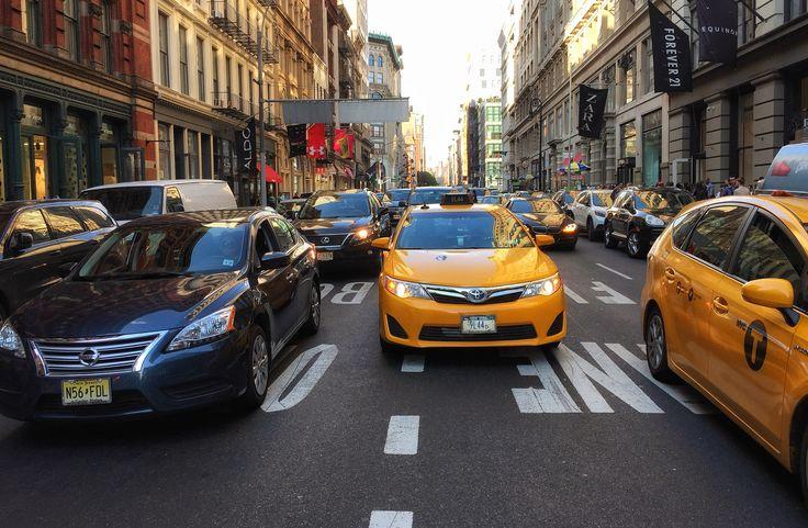 New York street. Broadway Manhattan.