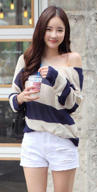 [LUXE ASIAN: ASIAN FASHION] Pepero knit,asian women style, luxe asian, dress, korean style,ASIAN STYLE,ASIAN FASHION,ASIAN WOMEN STYLE FASHION