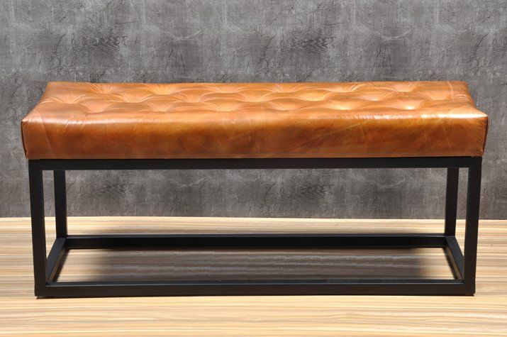 Adelinda Metal And Leather Bench Leather Bench Modern Furniture