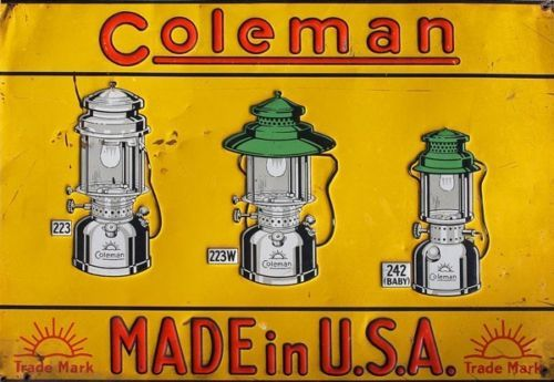 Vintage Coleman Lantern Sign Reproduction | eBay