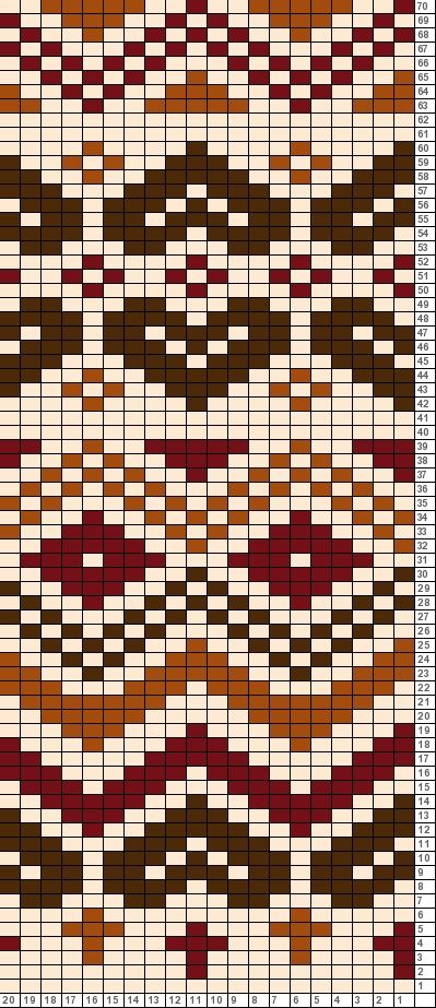 Tricksy Knitter Charts: Brown chart copy