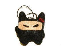 Ninja Mau Cellphone charme sleutelhanger