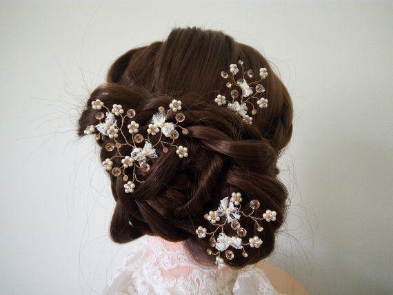Bridal Hair Pin. Wedding Hair Pin. Pearl Hair by DesignByIrenne