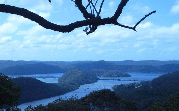 One from bushwalking, looking down onto the Hawkesbury River.