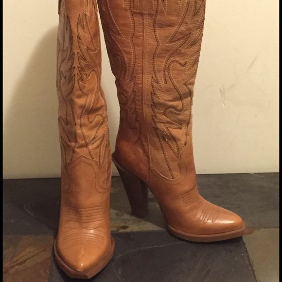 Jessica Simpson Shoes - NEW Jessica Simpson Alan High Heel Cowboy Boots 8