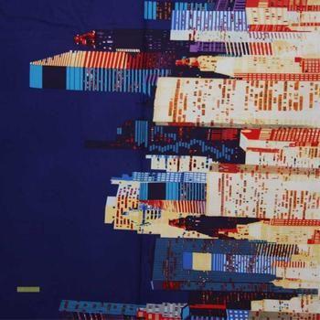 Big City fabric in blue