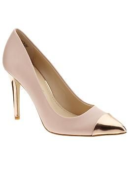 Anne Klein Wrenn | Piperlime ... love this pale blush and gold cap toe pump