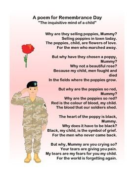 A poem for Remembrance Day quot The