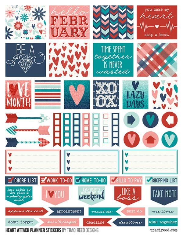 Heart attack by traci reed free planner stickers hp ec for Story planner free
