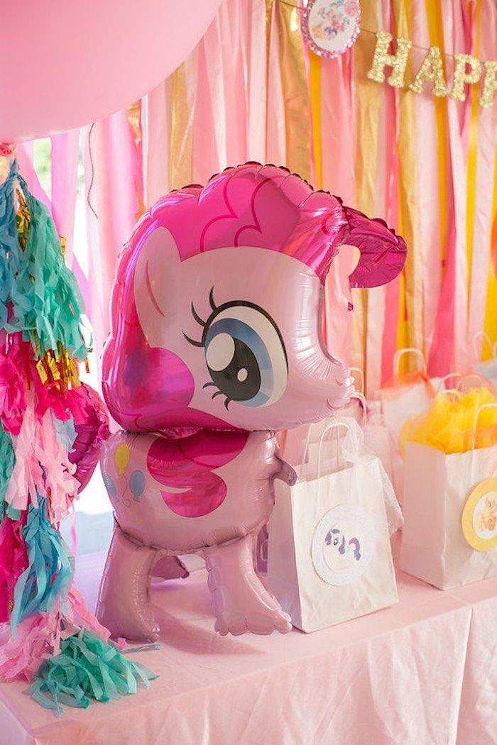 My Little Pony Mylar Balloon + Favor Bags from a My Little Pony Birthday Party via Kara's Party Ideas | KarasPartyIdeas.com (11)