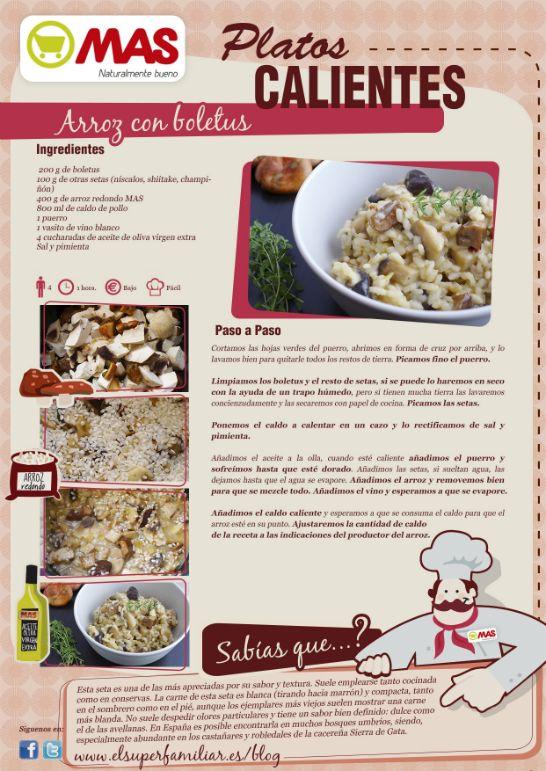 Receta de arroz con boletus