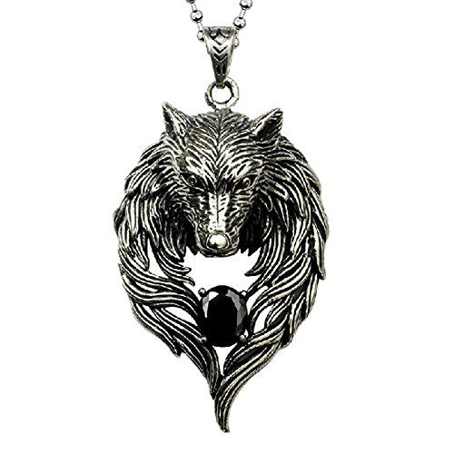 OAT CHOCO Men Necklace Wolf Pendant $24.89 Personality Cool Necklace Newest Design Wolf Necklace Titanium Steel Chain for Boyfriend Gift OAT CHOCO http://smile.amazon.com/dp/B00L8VG3FQ/ref=cm_sw_r_pi_dp_lnSEub08V9SXQ