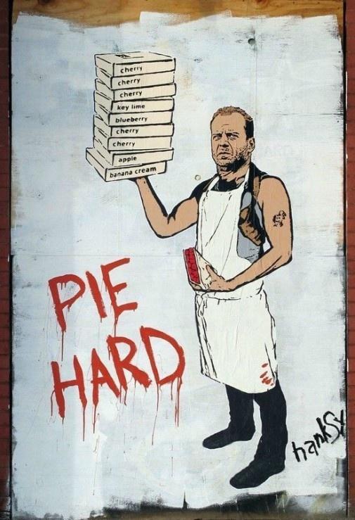 Pie. the ultimate streetart