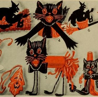 568 best Halloween of Yesteryear images on Pinterest Halloween - vintage halloween decorating ideas