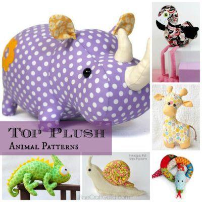 Top 9 Toy Animal Sewing Patterns