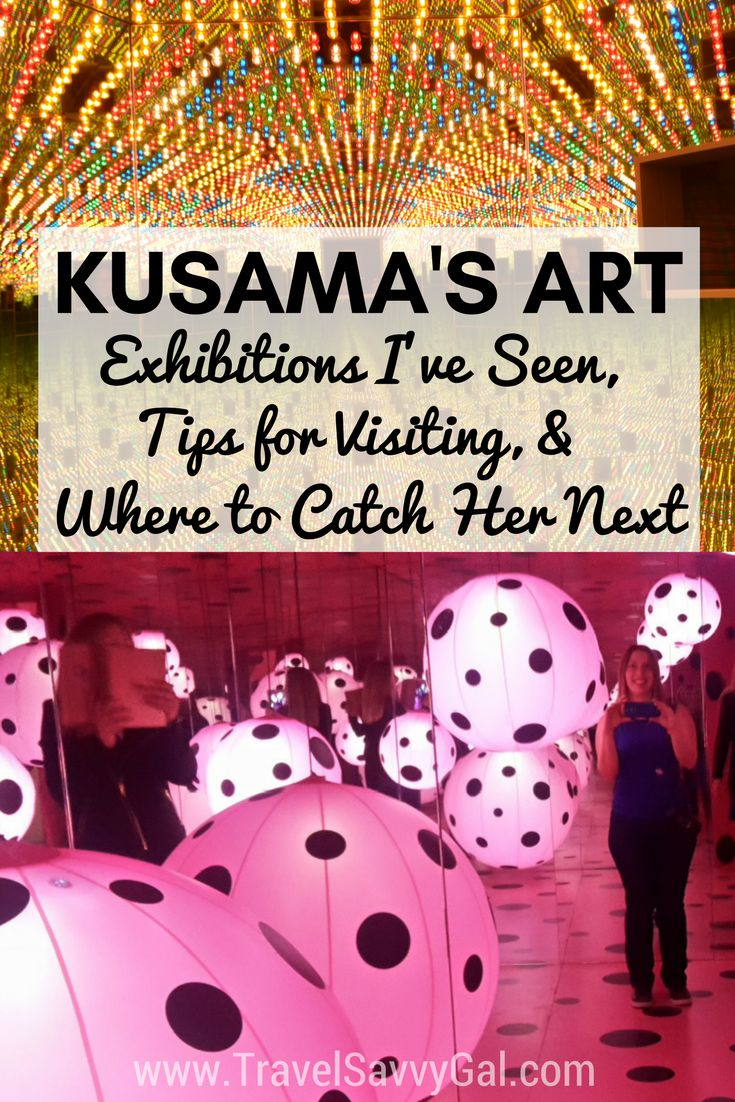 Yayoi Kusama's modern art is whimsical and unforgettable.  Click to find out what it's like to experience Infinite Kusama, tips for when you go, & where to catch her exhibitions next across North America – in the US and Canada.  Spoiler alert: You'll want to read this if you're headed to Seattle, Los Angeles, Toronto, Cleveland, or Atlanta!
