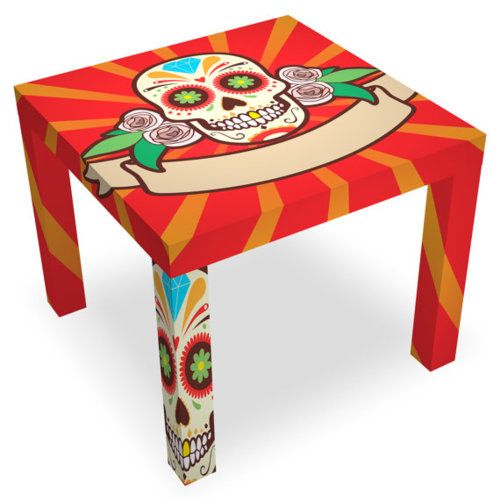 Lucha Libre Skull Table - Artists Enclave on Etsy