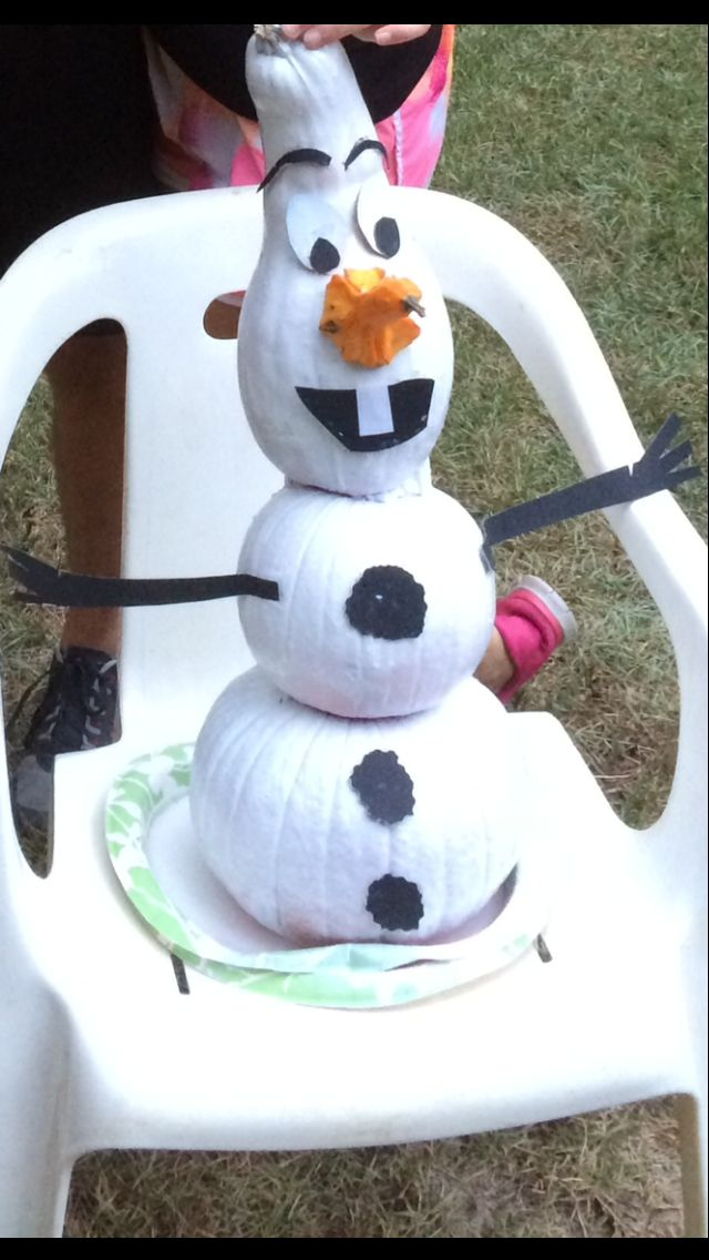 Olaf pumpkin!