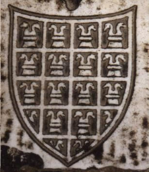 Interesting arms of Sampanti, with a semy of rooks (1384) from the Campo Santo, Pisa.