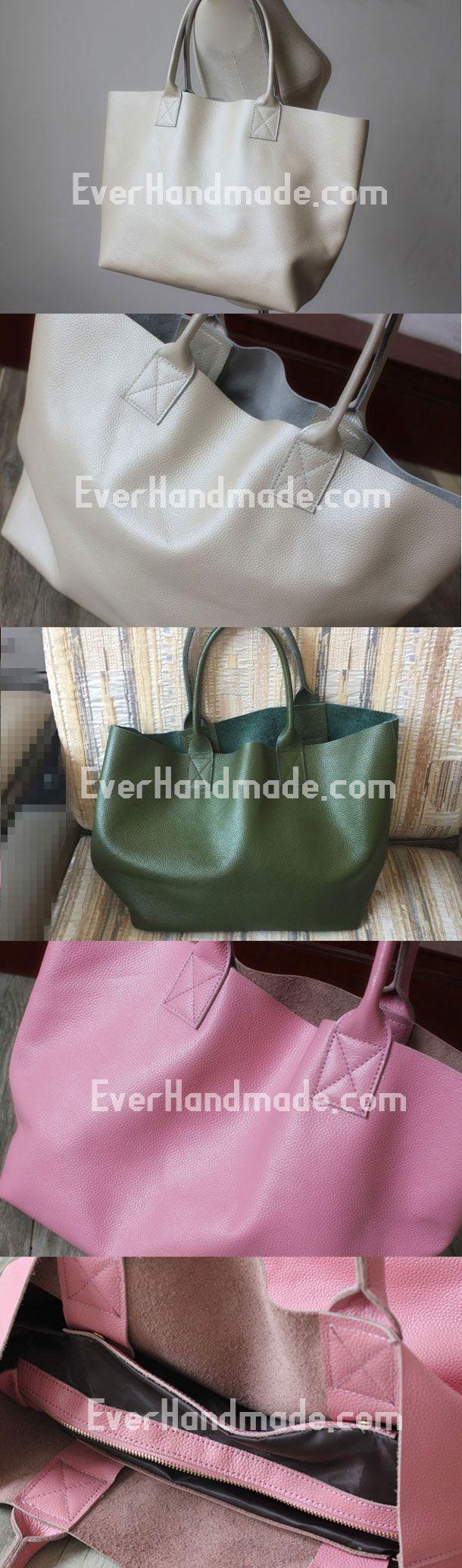 Genuine Leather Bag Handmade Vintage Leather Tote Bag Shoulder