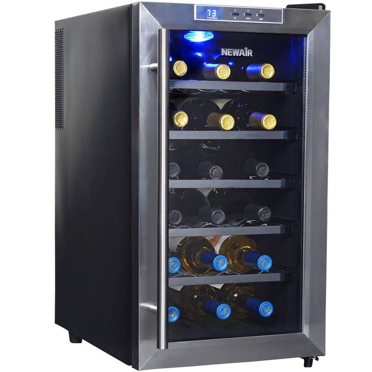 NewAir 18 Bottle Thermoelectric Wine Cooler Black