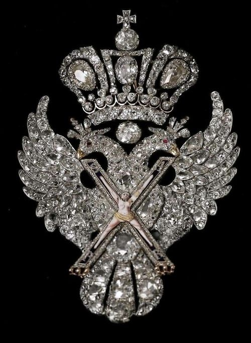 The Imperial Order of St.Andrew was established in 1698 by Tsar Peter the Great , in honour of St. Andrew, the first apostle of Jesus. It was given only for outstanding civilian or military merit.