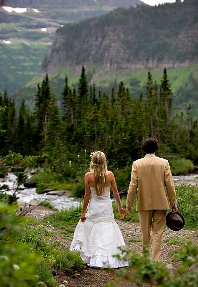 Glacier National Park wedding in Montana... wow. This is perfect. http://www.stylemepretty.com/2010/10/13/montana-wedding/