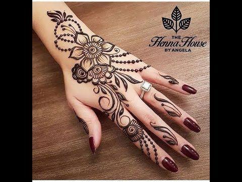 نقوش حناء رائعة على اليدين و القدمين نقوش حناء بسيطة و متوسطة و نقوش ع Engagement Mehndi Designs Henna Designs Henna Tattoo Designs
