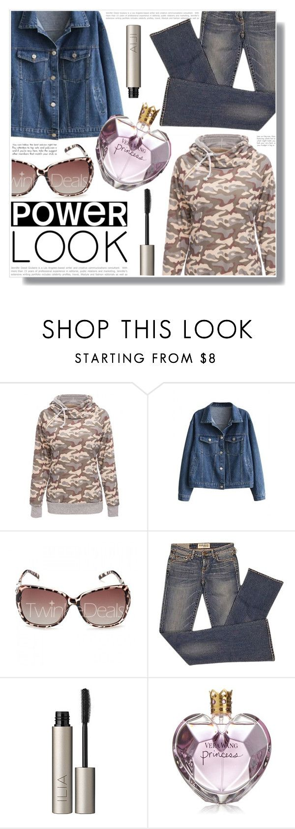 """""""Twinkledeals 40"""" by becky12 ❤ liked on Polyvore featuring Elizabeth and James, Ilia, Vera Wang, denim, camouflage and twinkledeals"""