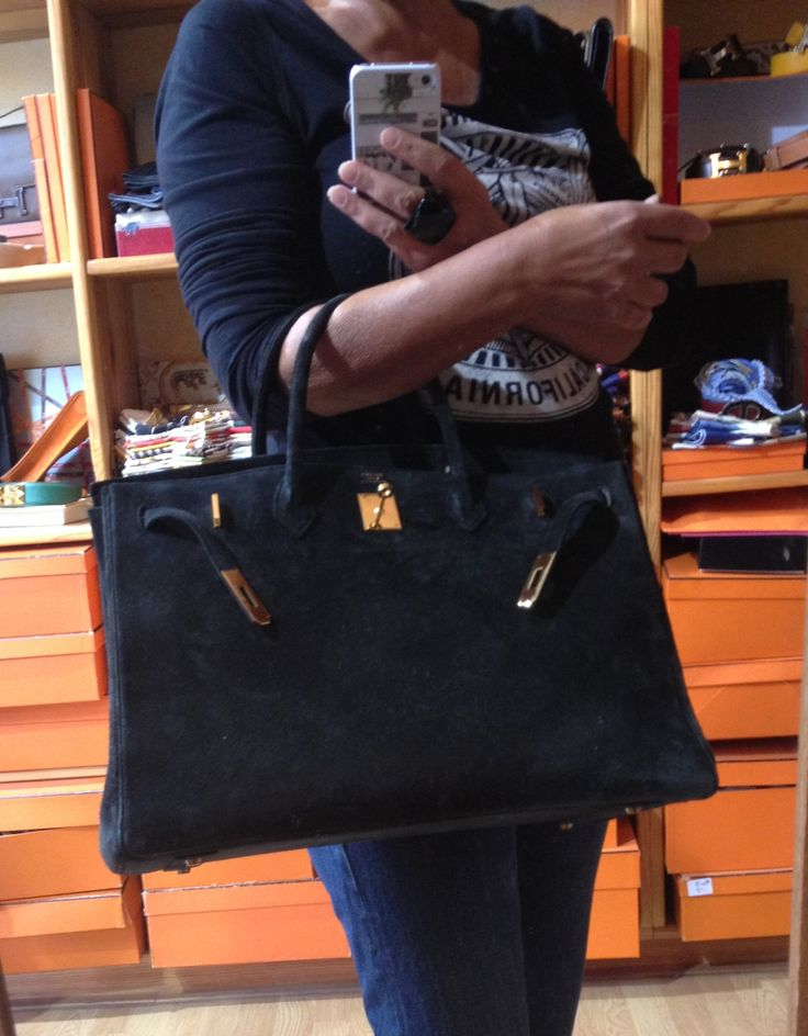 My new baby !! #hermes Birkin in suede 40 cm | Birkin and HAC from ...