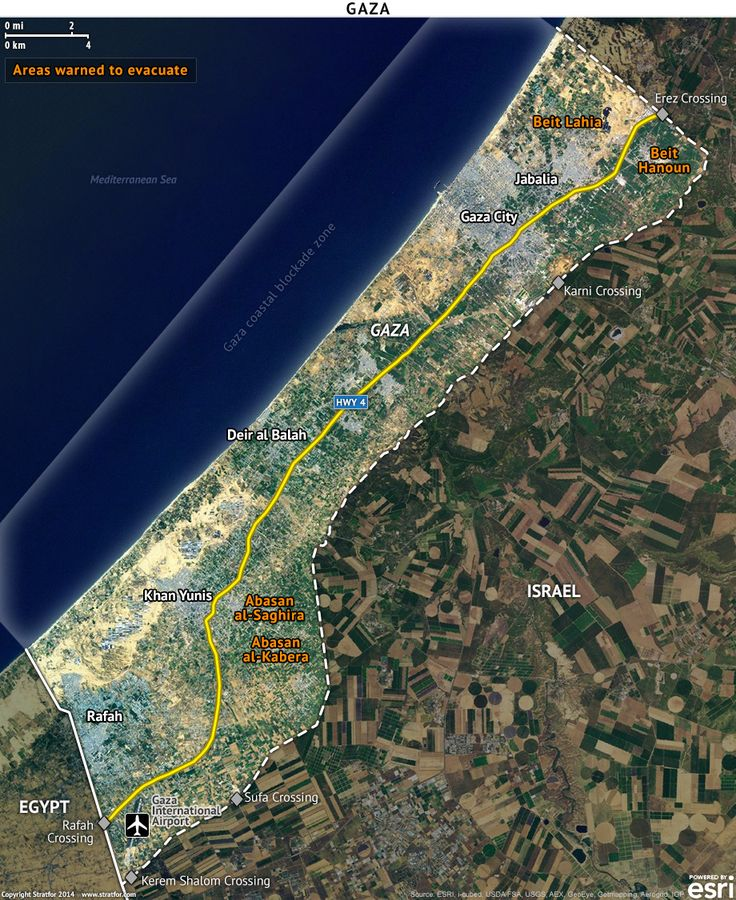 Map of the Gaza Strip 84 best