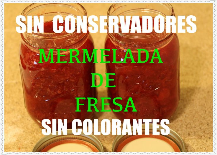 MERMELADA DE FRESA 100% NATURAL