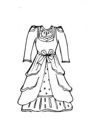 Vestidos Antiguos Para Colorear Buscar Con Google