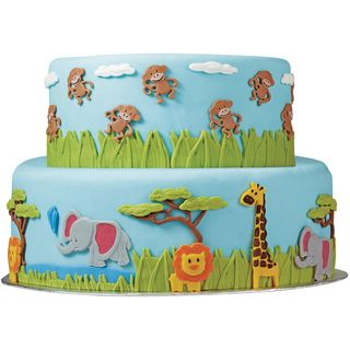Fondant Gum Paste Mold-Jungle Animals - Overstock™ Shopping - Big Discounts on Wilton Cake Decoration Tools