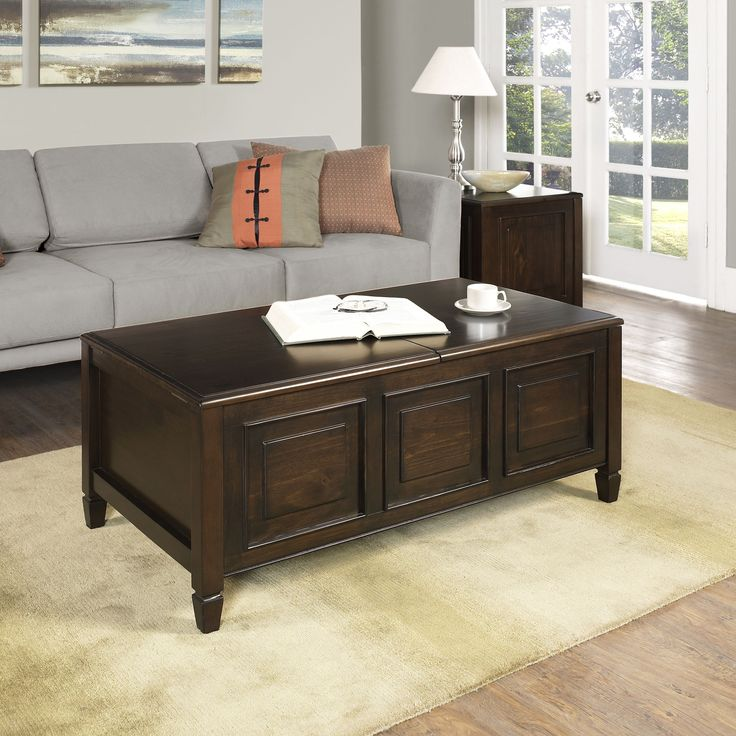 The Hampshire Coffee Table Is Unique And Functional. It Features Two Lift Up  Lids,