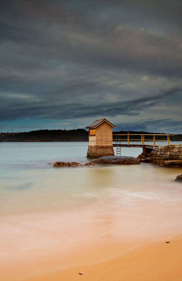 lights on in the shed, Camp Cove, Sydney Harbour National Park