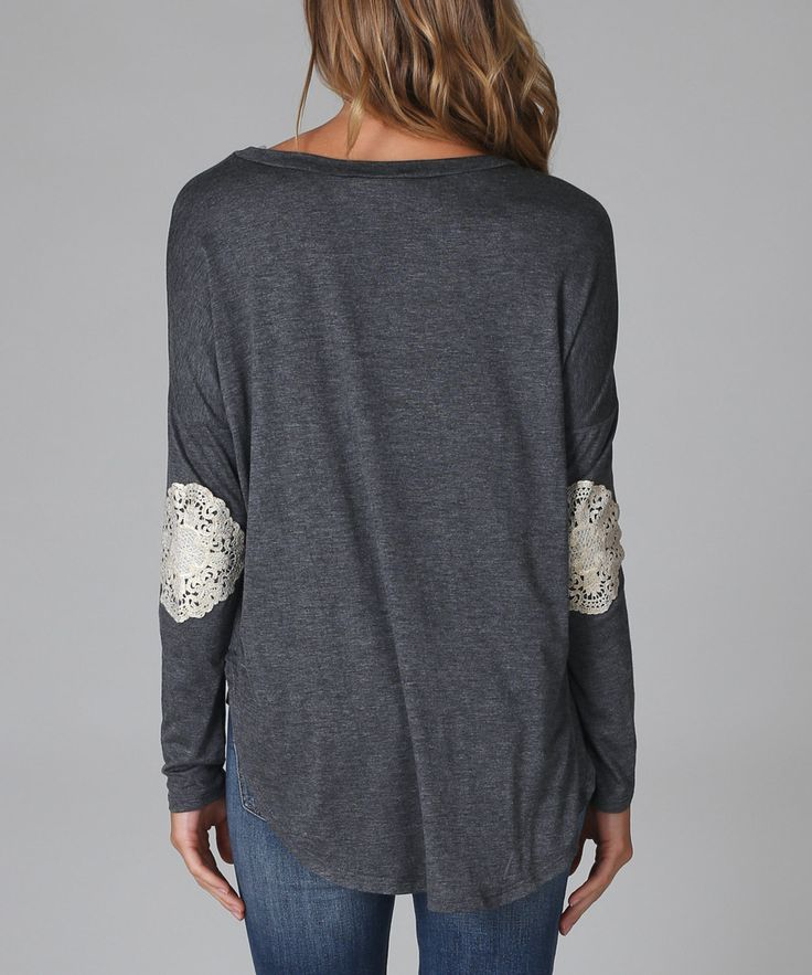 Lace elbow patches